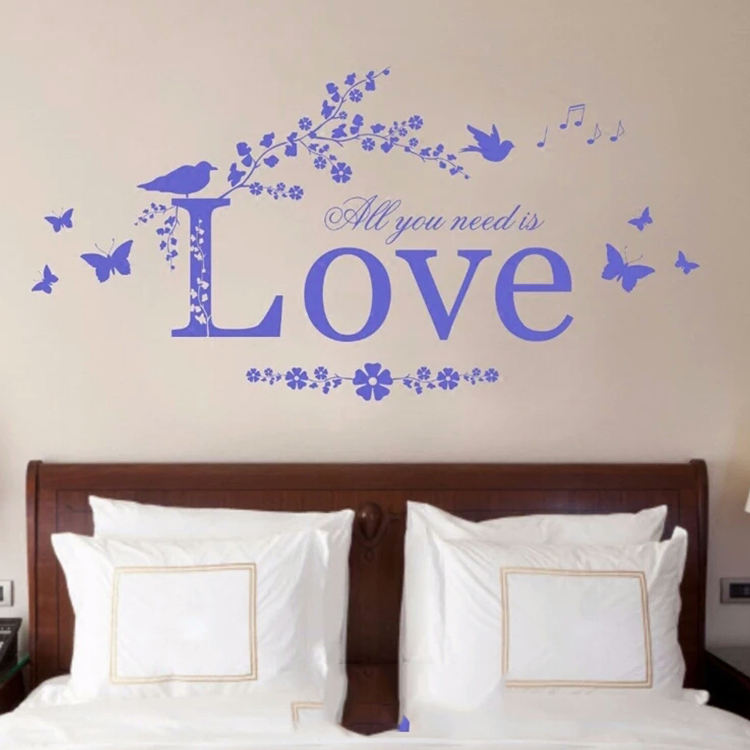 Inspirational Love Marriage Quote,Simple Design Removable Art Vinyl Quote Wall Sticker
