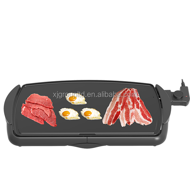 XJ-22871 Grills with non-stick cooking surface and heavy cast aluminum cooking plate and side-out drip tray Chinese supplier hot