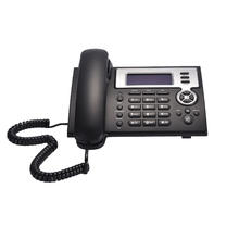 Asterisk VoIP Phone supports POE 2 sip lines smart desk IP phone