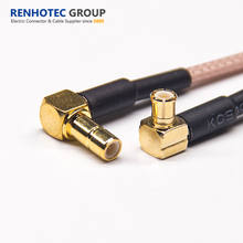Crimp Type R/A Male MCX to Female SMB RF Connector for RG316