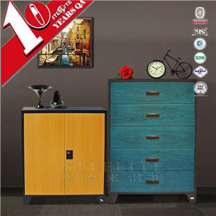 Large capacity steel drawer almirah design for shoes