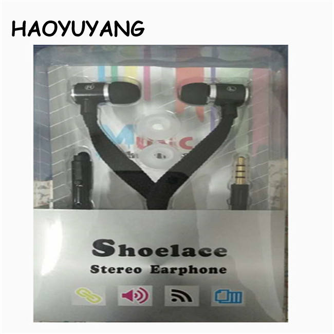 High Quality Shoelace Metal Earphone For iphone Shoelace Earphone