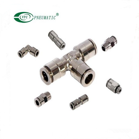 Brass Tee Straight Union Pneumatic fitting