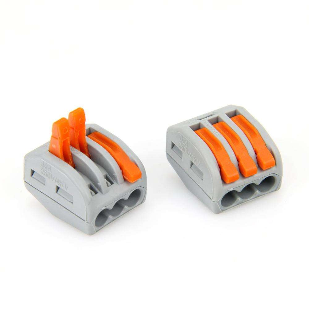 222-413 Spring Terminal Blocks Electric Cable Lever Wire Connectors - Electrical Equipment & Supplies Connectors & Terminals