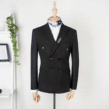 Blazer mens custom tailor suits stripe suite for men
