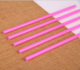 Plastic Straw Pink Hard Plastic Pp Drinking Straw In Pink