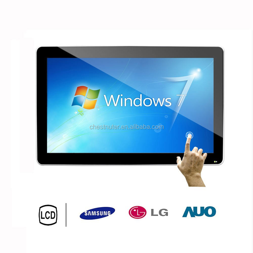 46 inch wall mount HD All In One Touch computer with windows os Interactive digital signage