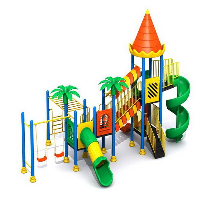 Children outdoor Playground Forest Series slide and climber