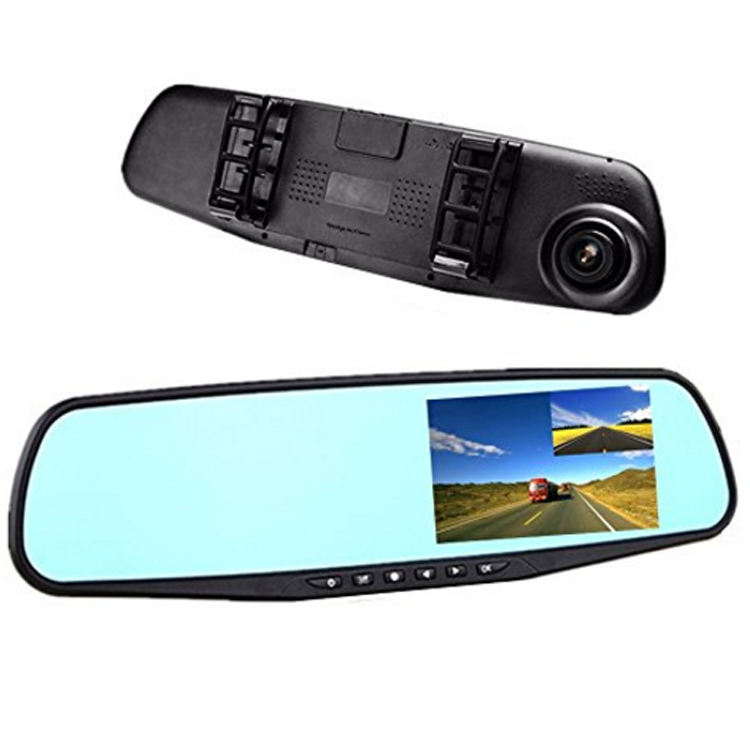 720P Rearview Mirror Car Recorder 2.8 LCD Screen TF Card Auto DVR