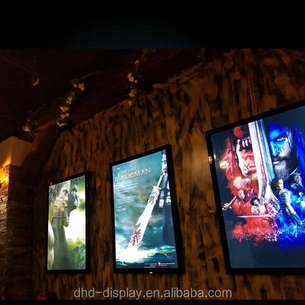 cinema movie poster display cinema led advertising light box