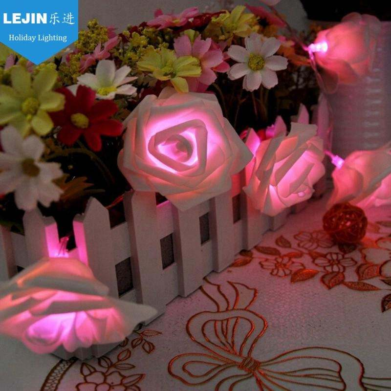5 m 20 led rose flower liburan string party led untuk perlengkapan pesta
