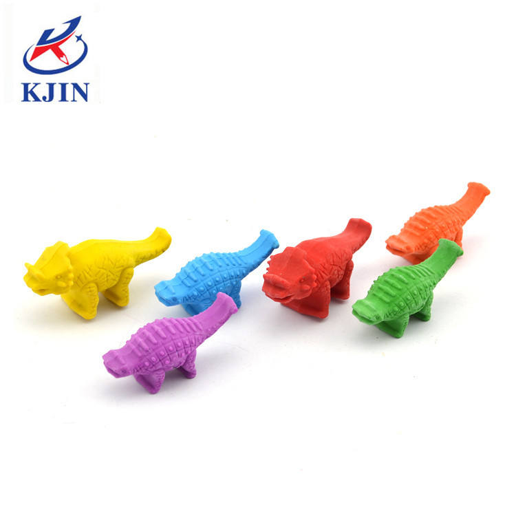 blister card packing plastic dinosaur crayons 3D for coloring book