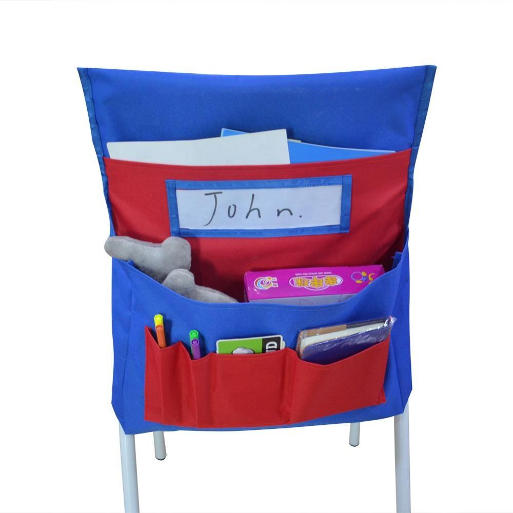 Polyester Classroom Storage Chair Pocket Chart For student