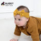 Factory directly wholesale fabric headband tie baby nylon knot bow hair band