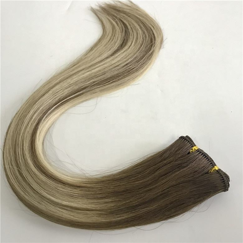 Best Virgin Hair Factory Full And Soft Brazilian Mink Balayage Color HandTied hair Weft extensions