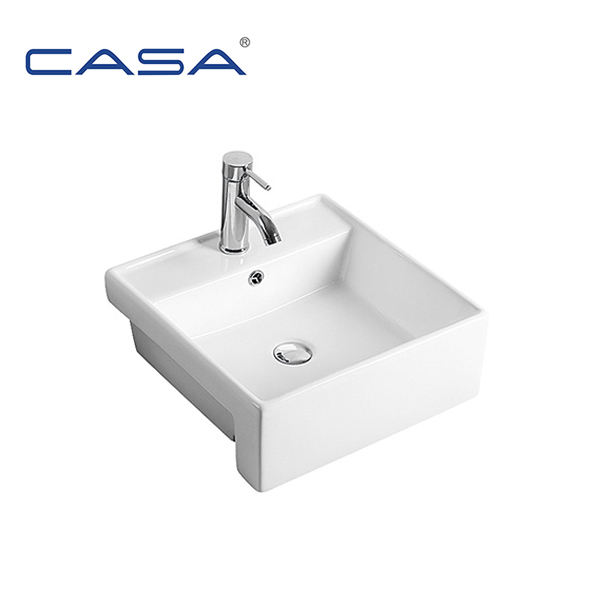 Drop-In Mounting Ceramic Washing Hand Sink