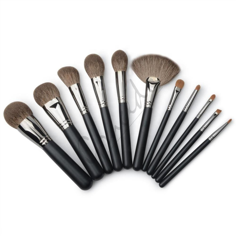 MAC style professional makeup brushes set blending brush/angular brush for light dusting of eye shadow/foundation power