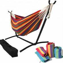 Hammock with stand Folding Camping Double Hammock Stand Outdoor Swing Bed Double Hammock Chair With Storage Carry Bag