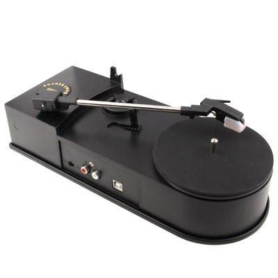 EC008B, USB Mini Phonograph / Turntable / Vinyl Turntables Audio Player, Support Turntable Convert LP Record to CD or MP3