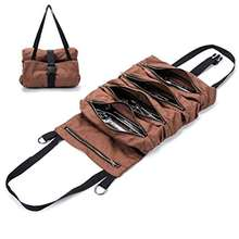 Large Super Wax Canvas Wrench Roll Tool Organizer Bucket  Tool Roll Up Pouch Handy Small Tool Tote Carrier Sling Bag