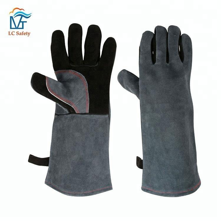 Leather Oven Grill Heat Resistant Cooking Barbecue Gloves for Burns BBQ Steam Gloves
