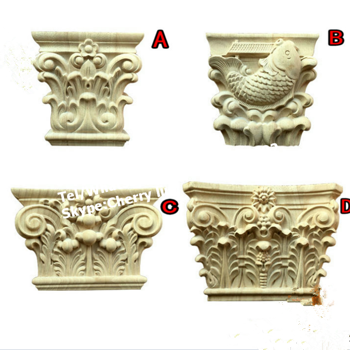 Hand Carved Cheap Wood Corbels Wood Capitals