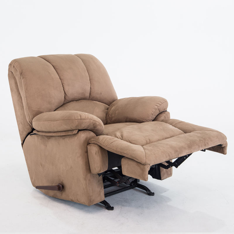 Easy-going Recliner Stretch Chair Soft Fabric Slipcover Manual Recliner