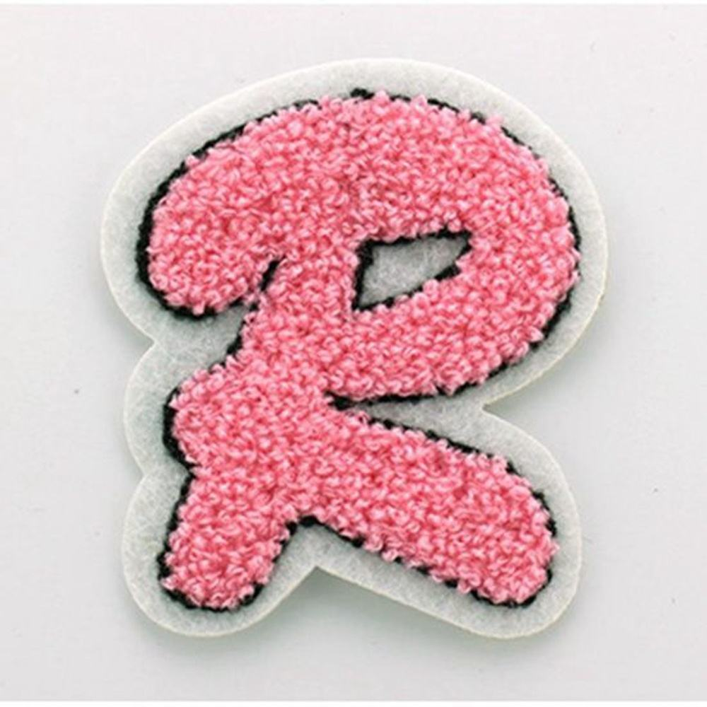 New style custom chenille Alphabet patch,chenille sew on letters