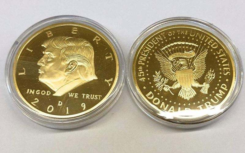 Mint Trump Coin 2019 Donald Trump 24k Gold Plated United States Eagle Commemorative Collectible Coin US Election 2020