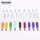 Reliabo Colorful Click Retractable Plastic Advertising Ball Pen With Logo For Promotional
