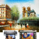 new gallery wrap natural scenery art printing canvas