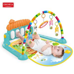 Multi functional Fitness Rack Baby GYM เปียโน Play MAT สัตว์ Rattle