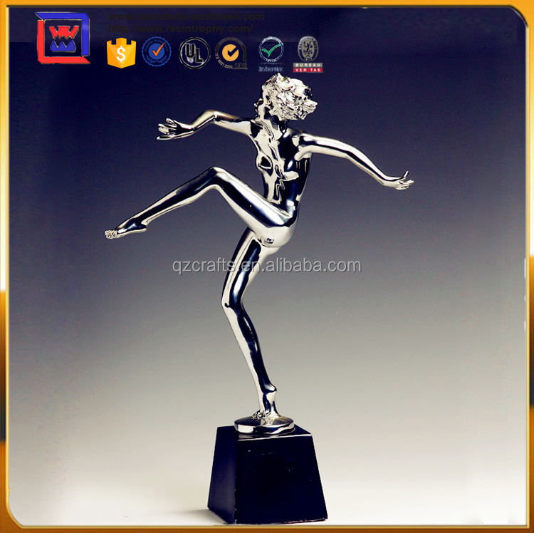 Sliver Chrome Decorazione Domestica <span class=keywords><strong>Sexy</strong></span> Lady <span class=keywords><strong>Figurine</strong></span> Per La Vendita