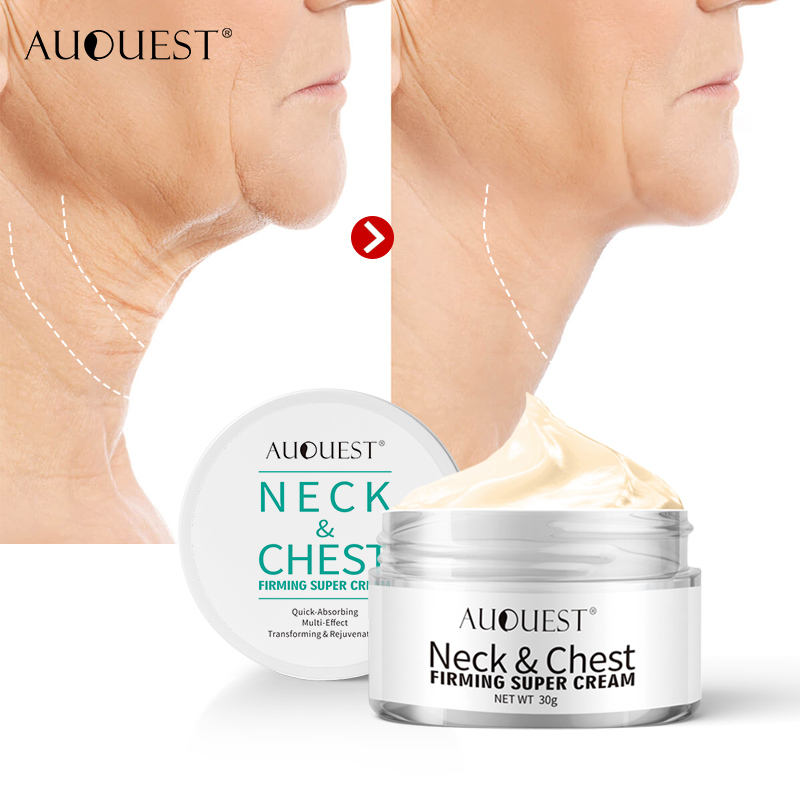 AuQuest Neck Chest Wrinkle Firming Cream Anti Aging Wrinkle Remover Skin Repair Lifting Tightening Neck Cream Skin Care