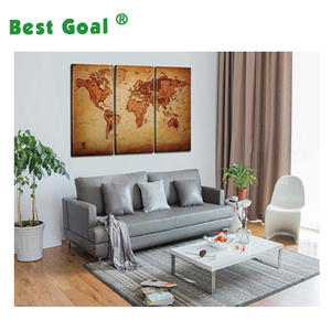 World Map Canvas Wall Art for Home Decor