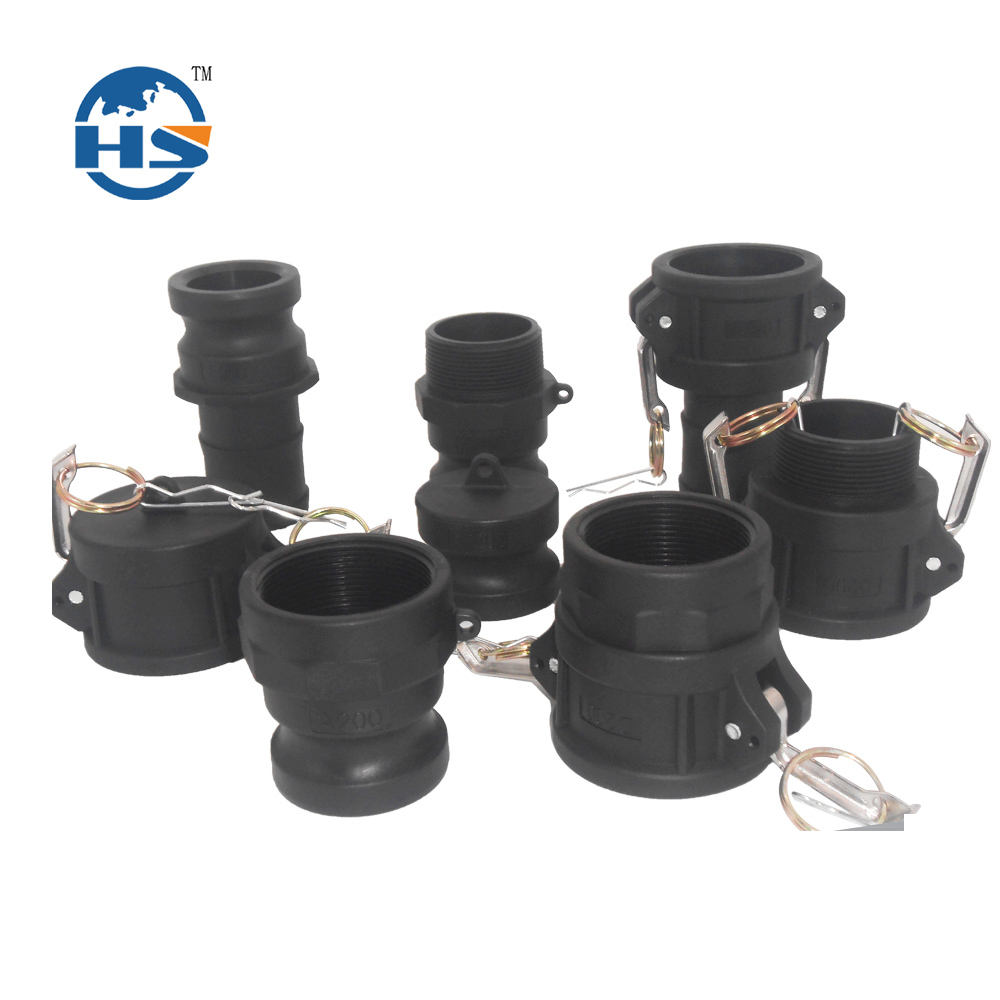 PP material part A/B/C/D/E/F/DC/DP camlock couplers quick coupling series