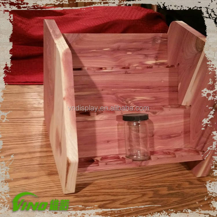 Custom wooden spice tray holder, tabletop compartment essential oil stand racks, handmade salt bottle organizer wholesale