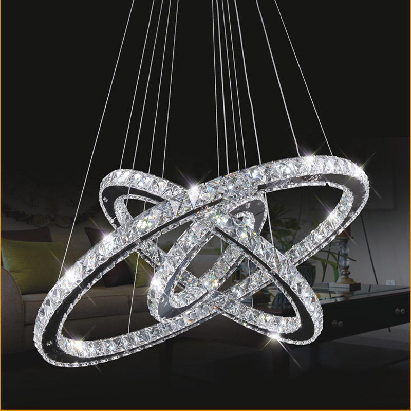 Fancy remote dimming luxury modern pendant light crystal chandelier