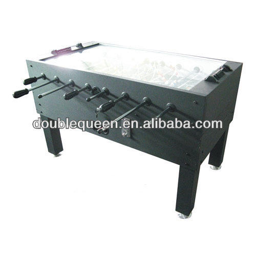 professional coin foosball table with glass top waterproof