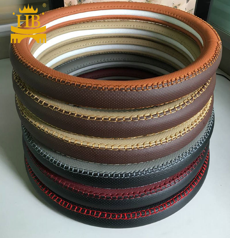 NEW Design pu leather car steering wheel cover