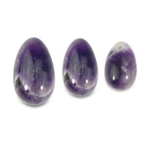 2019 Amazon hot selling 3 in one set jade amethyst eggs yoni eggs for vaginal