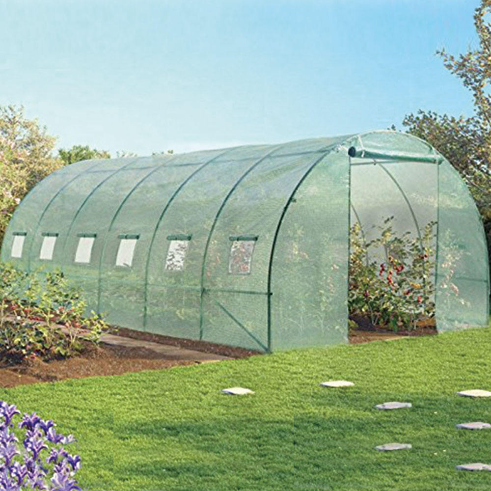 Strong packing polytunnel hobby greenhouse poly tunnel commercial agricultural greenhouse
