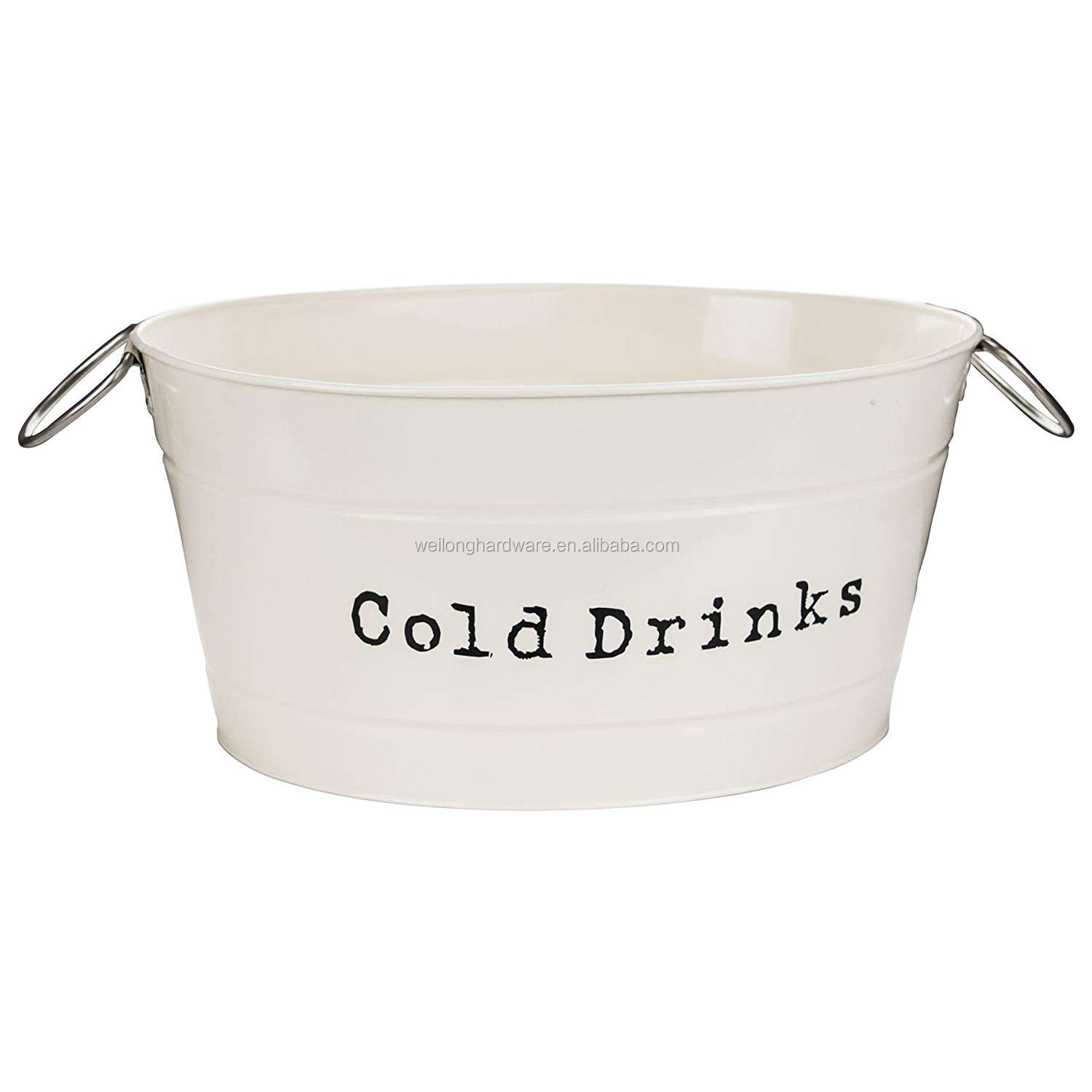 Metal Ice Bucket Party Tub Ice Holder Housewares Drinks Cooler Party in Vintage