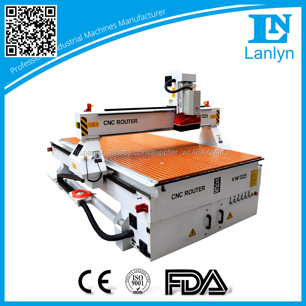 4.5kw huso de la refrigeración de aire cnc router xyz-s-1325 máquina CNC talla