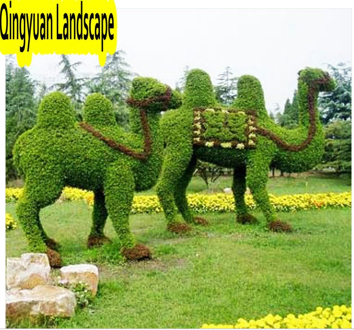 high quality cheap plastic artificial topiary animal, animal topiary wire frame