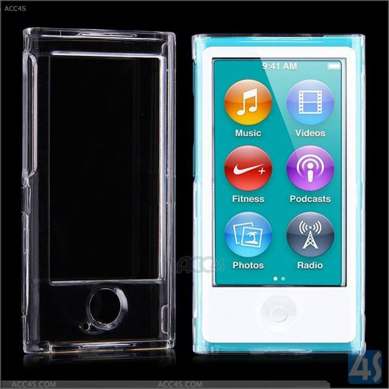 卸売FrontとBackラップアラウンドHard Crystal Case Cover For ipod Nano 7 8