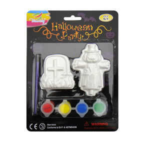 DIY toys, for kids to develop their creative potential, Halloween Plaster Painting, Pth-15