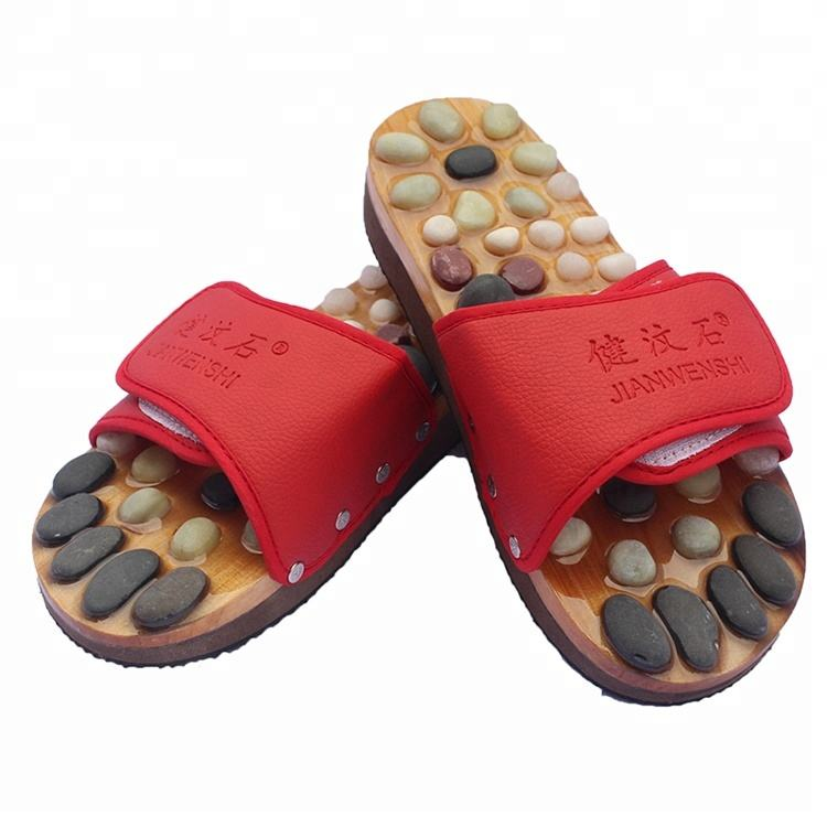 Anti-slip indoor women foot reflexology massage slipper