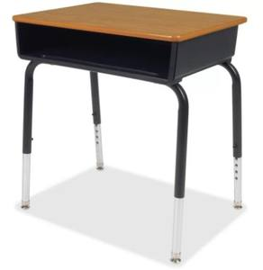 Adjustable desk metal single cheap school desks and chairs for student teacher table and chair
