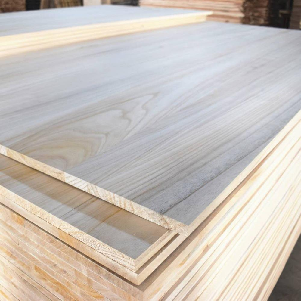 8*4 factory price paulownia edge glued solid wood panels